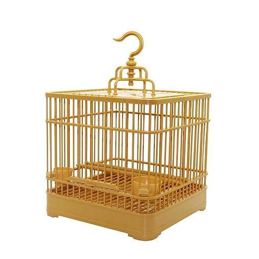 balaballalla Jaula para pájaros con comedero y regadera para ...