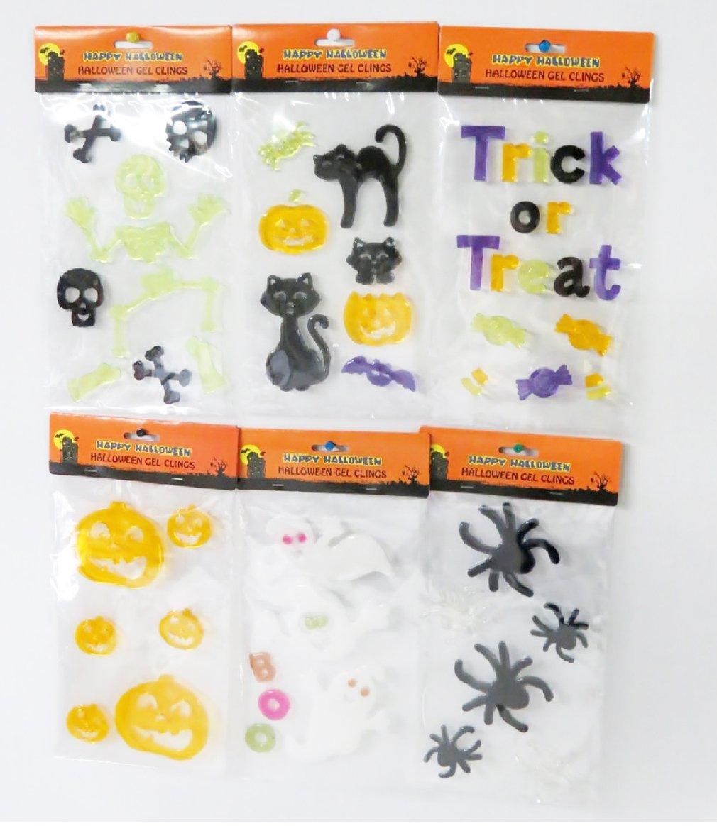 Halloween Window Gel Art - 6 Sets