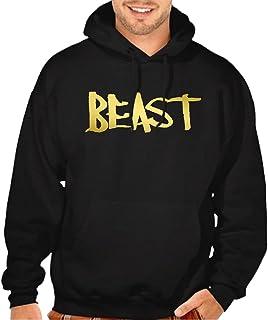 cef98a7168e Reflective Gold Beast Men s Black Pullover Hoodie Sweater Black