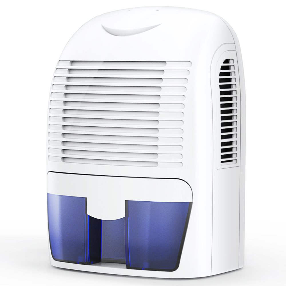 Hysure 1500ml Dehumidifier, 2200 Cubic Feet, Compact and Portable for Damp Air, Mold, Moisture in Home, Kitchen, Bedroom, Basement, Caravan, Office, Garage by Hysure (Image #1)
