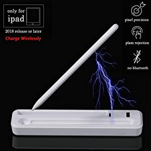 Stylus Pen Digital Pencil for iPad - Crayon Stylus with Charge Wirelessly Born for Apple iPad 10.2 Inch, iPad Pro 11/12.9 Inch, iPad 6th Gen, iPad Air 3rd Gen, iPad Mini 5th Gen (2020 Latest Model)