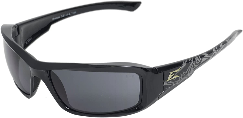 White with Smoke Lens Edge Eyewear XB146 Brazeau Safety Glasses