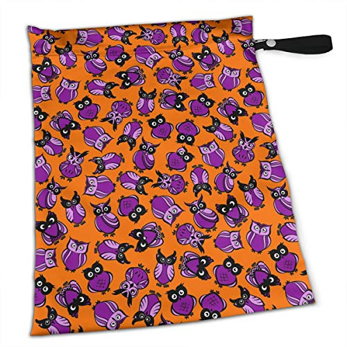 YyTiin Reusable Snack and Everything Bags - Halloween Owls,Large ()