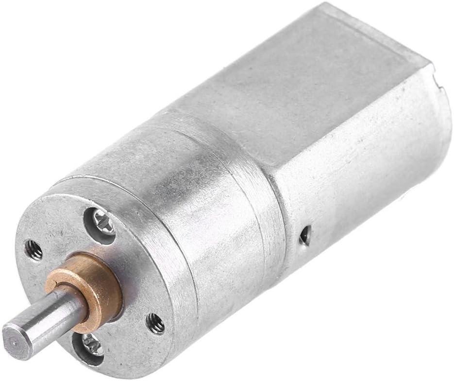 DC 12V Motor de Reducción de Velocidad Motor de Engranaje de Turbina Motor de Reducción de Alta Fuerza de Torsión con Diámetro Exterior 20MM 15/30/50/100/200RPM(12V 50RPM)