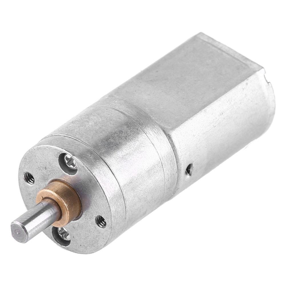 Gear Motor DC 12V Outer Diameter 20MM 15~200RPM High Torque Electric Gear Reduction Motor 100RPM