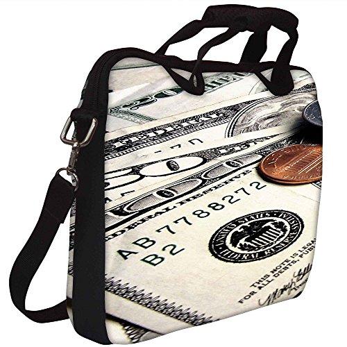 Snoogg Dollars aufrufen Gedruckt Notebook-Tasche mit Schultergurt 15 bis 15,6 Zoll