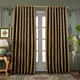 72″ Wx84″ L (Set of 1 panel) 20 size available Custom Country Rustic Jacquard Paisley Grommet Top Energy Efficient Window Treatment Draperies & Curtains Panels¡­ For Sale