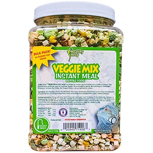 Healthy Herp Veggie Mix Instant Meal Bulk 7.5-Ounce (212.63 Grams) Jar