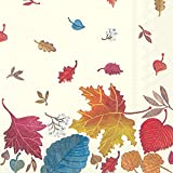 Ideal Home Range Paper Lunch Napkins, Autumn Day Cream