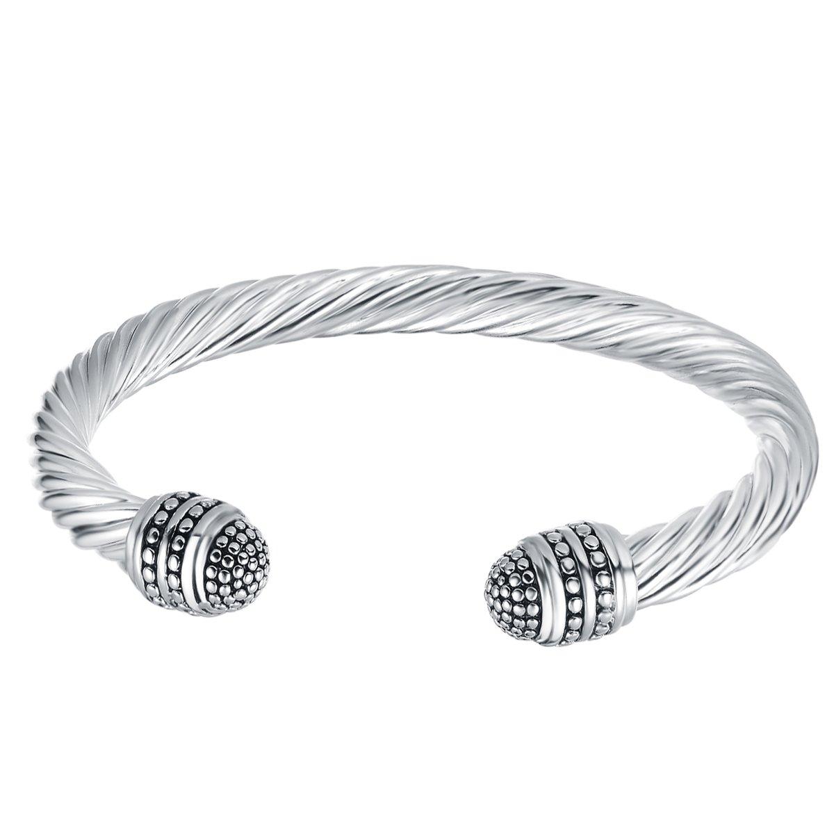 UNY Fashion Jewelry Brand Cable Wire Retro Antique Bangle Elegant Beautiful Valentine UNY17030