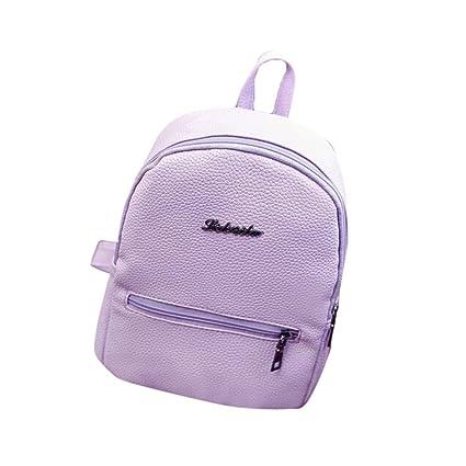 85855d9d377a97 Girls Leather School Bag Travel Backpack Satchel Women Shoulder Rucksack,  LLguz Elegant Girl Handbag Backpack