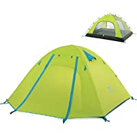 TRIWONDER 2-3-4 Person 3 Season Camping Tent Double Doors Lightweight Waterproof Double Layer Backpacking Tent for Camping Hiking