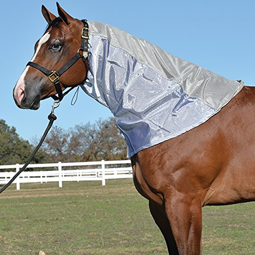 Cashel Fly Sheet Neck Guard Hood, protects horses from biting insects and UV Rays, Size Medium 74''-80'' by Cashel