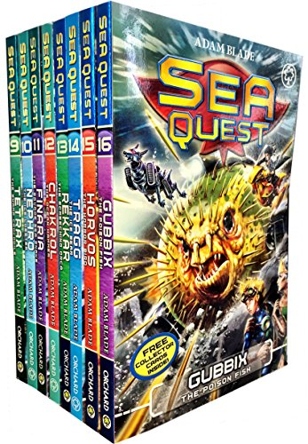 Sea Quest Series 3 And 4 Collection Adam Blade 8 Books Set  Tetrax  Nephro  Finaria The Savage  Chakrol  Rekkar The Screeching Orca  Tragg The Ice Bear  Horvos The Horror Bird  Gubbix The Poison Fish
