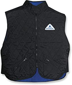HyperKewl Deluxe Sport Vest , Size: Lg, Distinct Name: Black, Gender: Mens/Unisex, Primary Color: Black