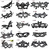 15 Piece Lace Venetian Masquerade Masks for Women