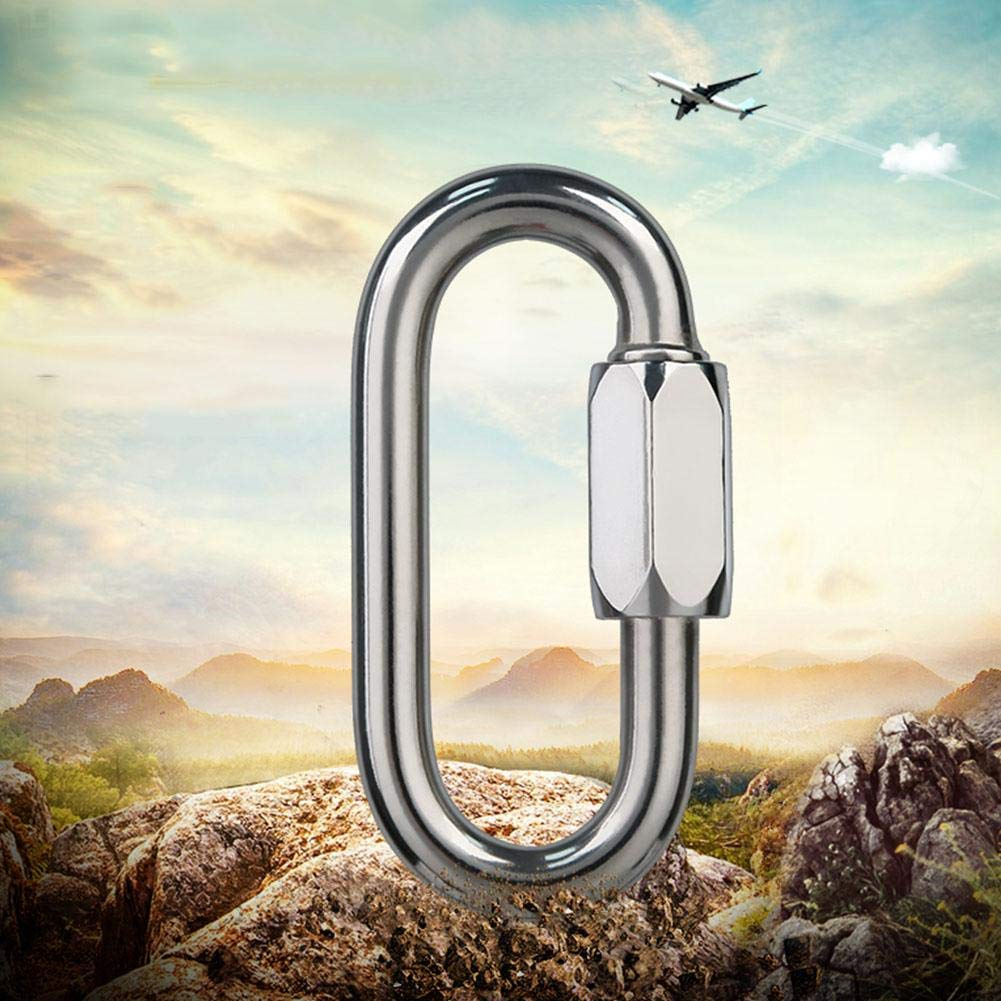Stainless Steel Mellon Lock 18KN About 1800KG Keenso Carabiner Load-Bearing Outdoor Quickdraw Carabiner