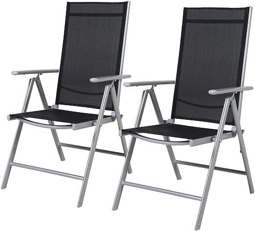 Maxx Lot de 2 chaises réglables en 7 Positions - Chaise de ...