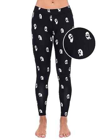 ghost leggings ghost halloween costume tights for women x small - Halloween Tights For Women
