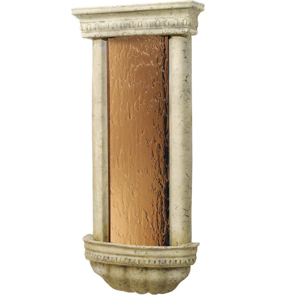 BluWorld BZBAW Bellezza Series Weathered Fountain in Ancient Stone with Bronze M