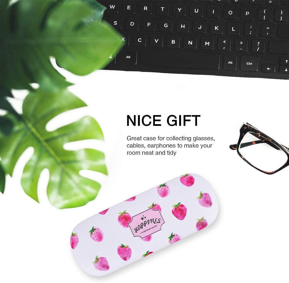 6.2 LegendTech Brillenetui Tragbar Brillenetui Hardcase Brillenbox mit Sch/önes Erdbeer-Muster Leichtes Weiches Futter mit Rutschfestem Griff f/ür Damen Herren die Lagerung 16.5 3.9cm Rosa