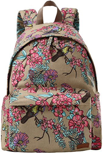 Besporter Lightweight Floral Pattern Backpack
