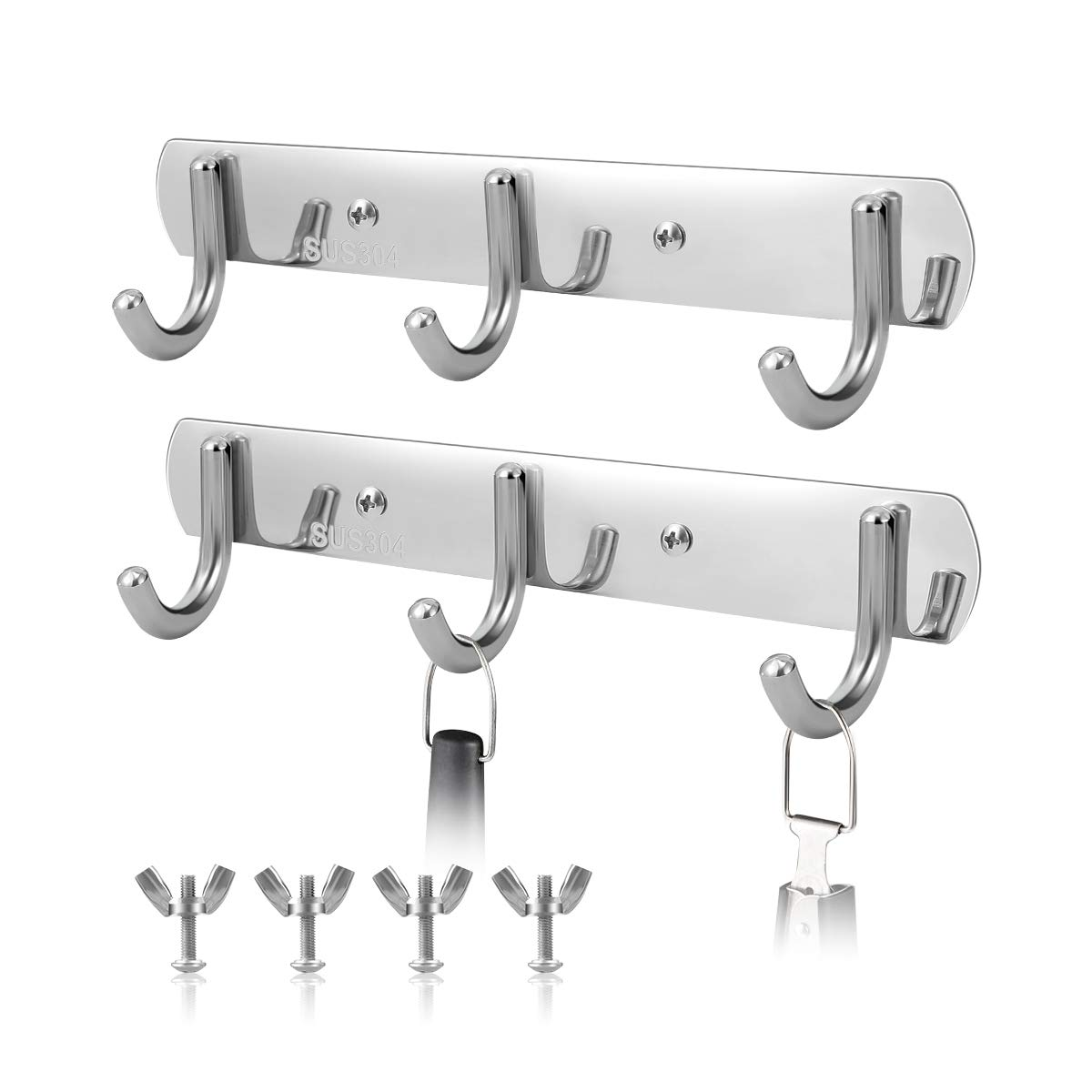 AIEVE Grill Hooks for Utensils,Heavy Duty Hanger Gear Trax Combo Kit for Char-Broil Grill Hanging Grilling and Cooking Utensils Barbecue Tools