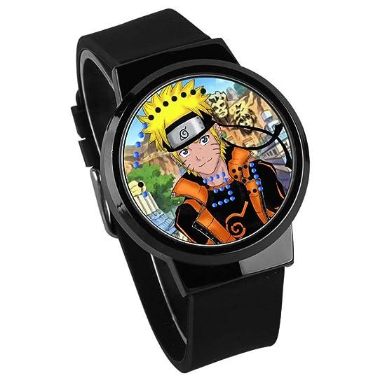 Relojes De Pulsera,Reloj Led Táctil Reloj De Marea Animación De Naruto Y Circunferencia De Dibujos Animados C: Amazon.es: Relojes