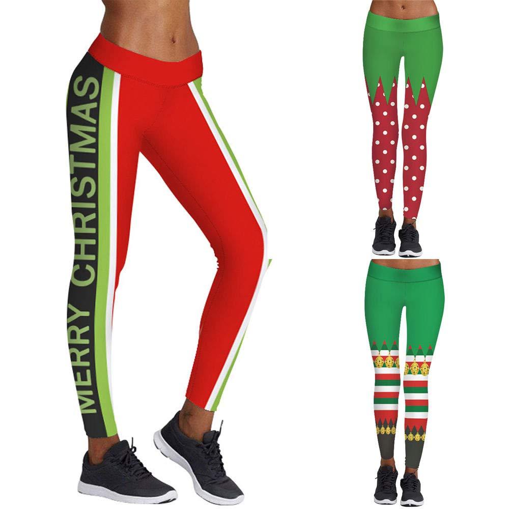 Amazon.com: URIBAKE Women Leggings Merry Christmas 3D Print ...