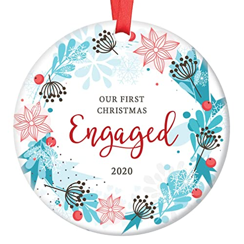 Couples First Christmas Ornament 2020 Amazon.com: First Christmas Engaged Ornament 2020 Pretty Porcelain