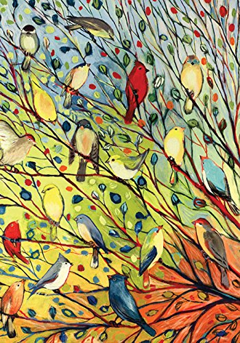 Toland Home Garden Tree Birds 12.5 x 18 Inch Decorative Colo