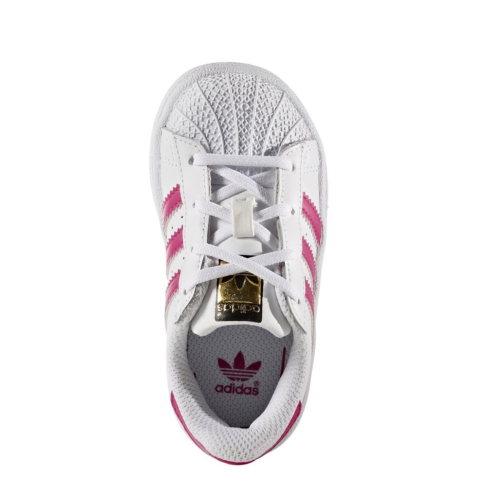 Scarpe adidas – Superstar I bianco/rosa/bianco formato: 17