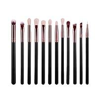 Angelof 12Pcs Brosse CosméTiques Maquillage Pinceau DéFinit Kits Outils
