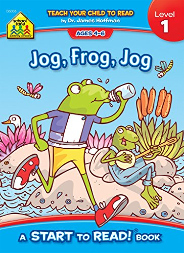 Bobble Frog - School Zone - Jog Frog Jog, Start to Read!® Book, Level 1, Ages 4 to 6, Rhyming, Early Reading, Vocabulary, Simple Sentence Structure, Picture Clues, and More (School Zone Start to Read!® Book Series)