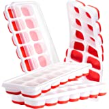4 Pack Ice Cube Trays, Ice Tray Durable & Flexible, Ice Trays for Freezer, Silicone Ice Cube Tray, 14 Ice Cube Trays for Free