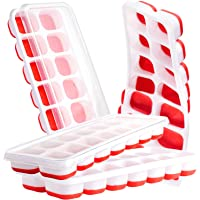 4 Pack Ice Cube Trays, Ice Tray Durable & Flexible, Ice Trays for Freezer, Silicone Ice Cube Tray, 14 Ice Cube Trays for…