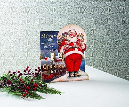 [해외]메리 & amp; /Merry & Jolly Santa Claus Countdown Days Until Christmas - Features Movable Numbers