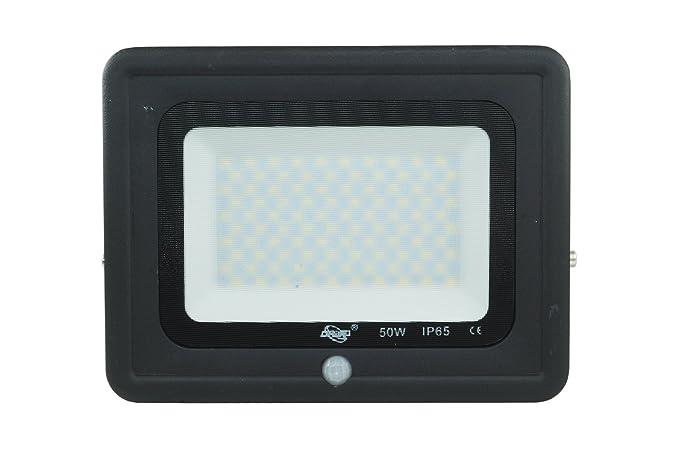 Foco LED 50 W w Sensor Movimiento Luz Fría Ultra Slim SMD Muser negro Dr