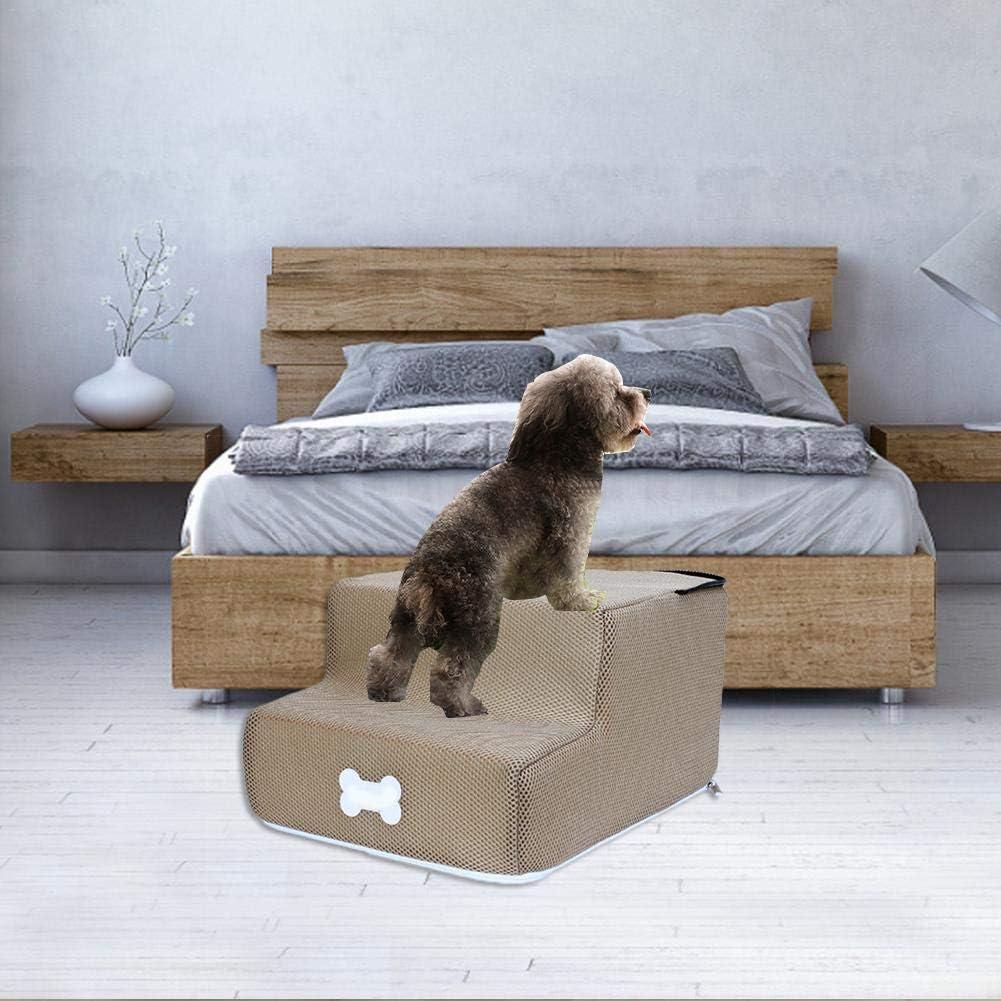 Escalera para Perro, Escalera de Mascota 2 Pasos de Escalera para Perro y Gato Súper Suave: Amazon.es: Bricolaje y herramientas