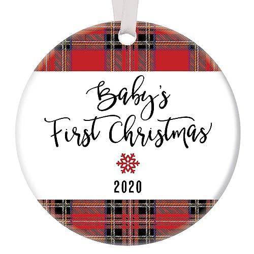 Grandsons First Christmas Ornament 2020 Amazon.com: Baby Boy's First Christmas Ornament 2020 Handsome Red