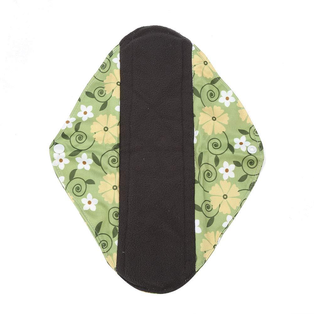 WSD6 9pcs reutilizable lavable panty trazador de l/íneas de bamb/ú tela de carb/ón Mama Sanitary Menstrual Pad