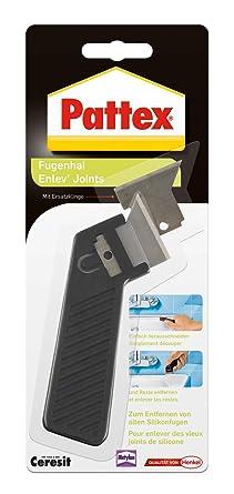 Pattex Fugenhai mit Ersatzklinge / Praktischer und handlicher Silikon Fugenentferner für den Sanitärbereich / 1er Pack mit Er