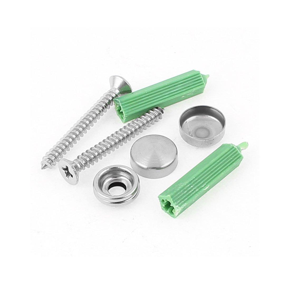 eDealMax Aluminum Wall Mounted Adjustable 5 Hooks Kitchenware Hanger Rack
