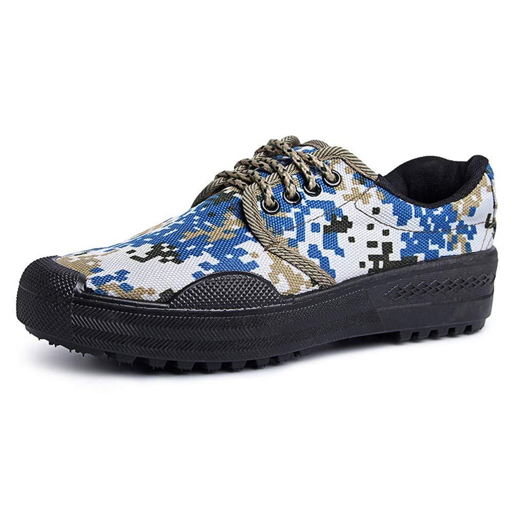 RcnryCamouflage Casual Schuhe Anti-Rutsch-Verschleißfest Niedriger Komfort Leichter Komfort Arbeitsschutz Canvas Atmungsaktive Gummistiefel B,43