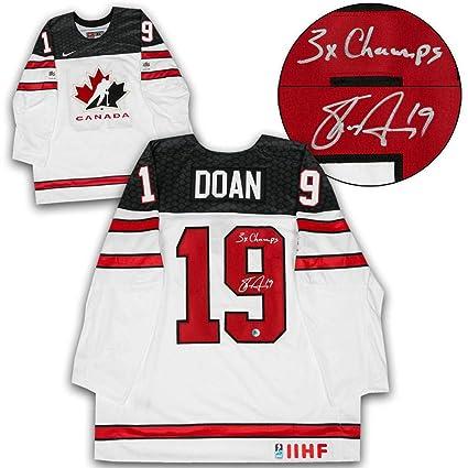 3ca15582f Shane Doan Autographed Jersey - Team Canada White Nike - Autographed NHL  Jerseys