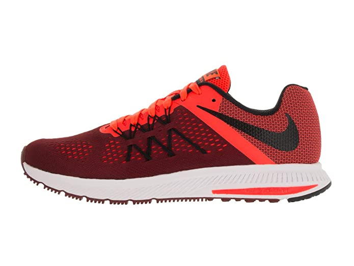 Amazon.com | Nike Mens Zoom Winflo 3 Team Red/Black/TTL Crimson/Wht Running Shoe 9.5 Men US | Road Running