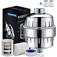 YOMYM High Performance 10 Stage Universal Shower Filter, Reduces Dry Itchy Skin, Dandruff, Eczema and Dramatically Improves the Condition of Your Skin, Hair and Nails