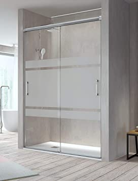 Mampara de Ducha Frontal - 2 Puertas Correderas [Apertura por ambos lados] - Cristal de Seguridad de 6 mm - Modelo Betty (160-164 cm): Amazon.es: Bricolaje y herramientas