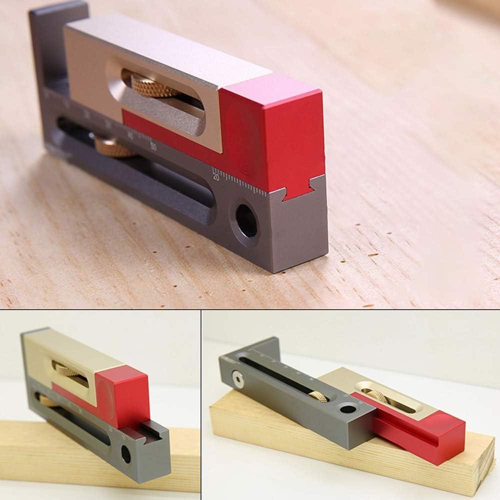 Table de scie Fente de r/églage de la mortaise et outil Tenon Outil de mesure de la longueur du bloc de mesure mobile Outils de travail du bois