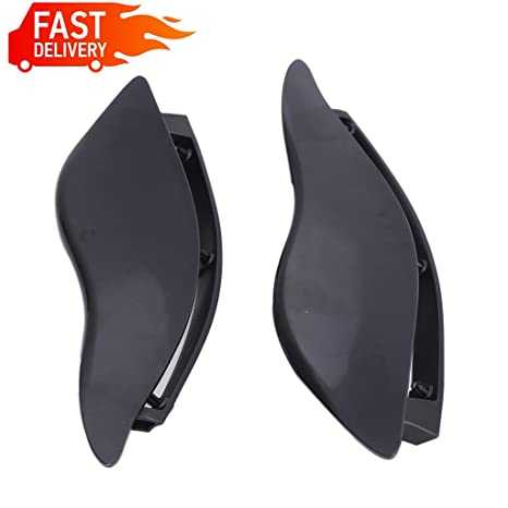 Motorcycle Accessories & Parts Covers & Ornamental Mouldings Dark Smoke Abs Adjustable Air Deflectors Side Wing Cover For Harley Street Glide Models Electra Glide Tri Glide Models 2014-2016